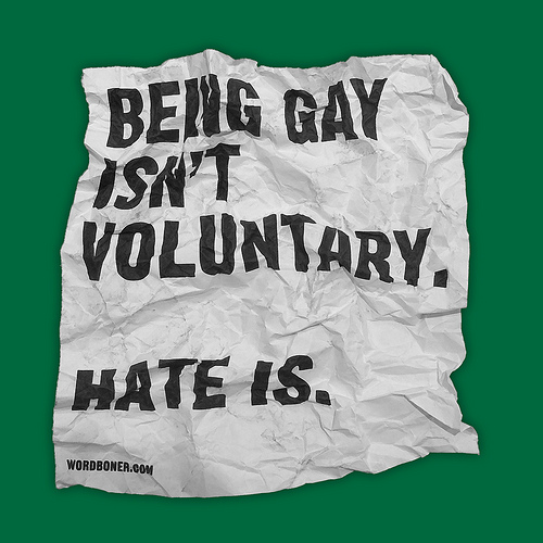 Being Gay Isn't Voluntary (get this on a tee in US store, get this on a tee in European store, make your own tee with this or get this on a postcard)